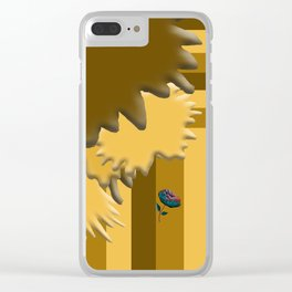 Shades of Brown 3 Clear iPhone Case