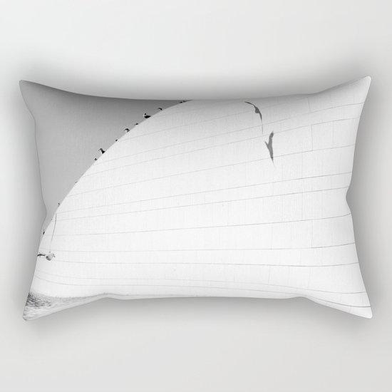 Shadows birds Rectangular Pillow