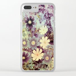 Cosmos and textures Clear iPhone Case