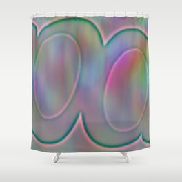 Shinning relief Shower Curtain