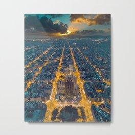 Sunset in Barcelona Metal Print