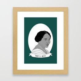Madam C.J. Walker Illustrated Portrait Framed Art Print