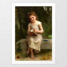 "William-Adolphe Bouguereau ""The Reading Girl"" Art Print"
