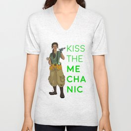 Kiss the Mechanic Unisex V-Neck