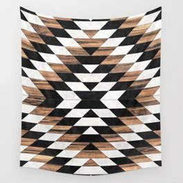 Urban Tribal Pattern No.13 - Aztec - Concrete and Wood Wall Tapestry