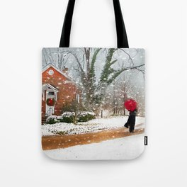 The Winter Cottage Tote Bag