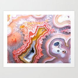 Agate Gem slice Art Print