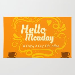 Quote Poster - 22 - Hello monday Rug