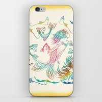 mermaid iPhone & iPod Skins featuring Mermaid by famenxt
