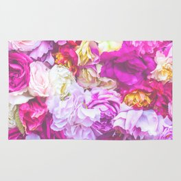 Vintage Bouquet - Pink Purple Rug