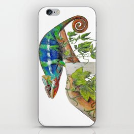Chameleon in Nature's Hand iPhone Skin