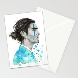 Man Bun Tears Stationery Cards