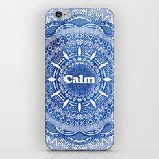 Calming Serenity Blue Mandala iPhone & iPod Skin