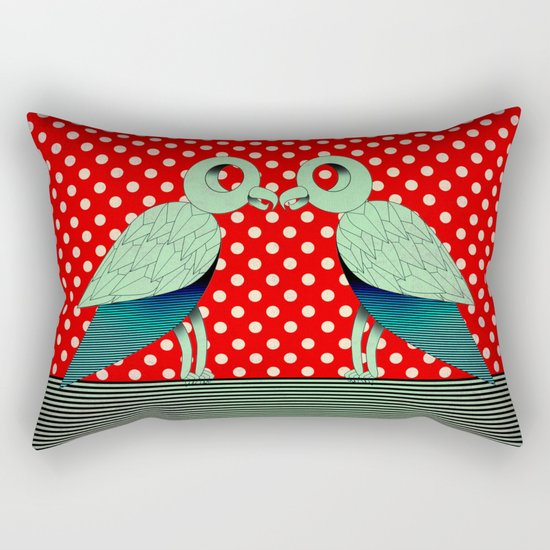 parrot dot ! Rectangular Pillow