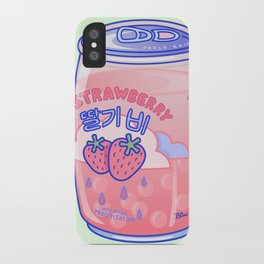 Strawberry Rain iPhone Case