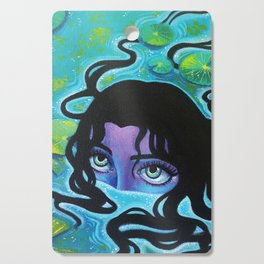 Pond Girl Cutting Board