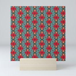 vintage colored seamless spider ornate pattern Mini Art Print