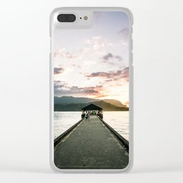 Hanalei Beach Pier Clear iPhone Case