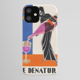 Vintage 1930 Drinking Absinthe Causes Death Alcoholic Beverage Advertising Poster iPhone Case