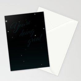 A Message from the Universe: You're Doing Great Stationery Cards
