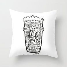 For the Love of Beer Throw Pillow