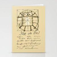 da vinci Stationery Cards featuring Kot da Vinci by Katja Main