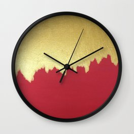 Dipped in Gold Wall Clock