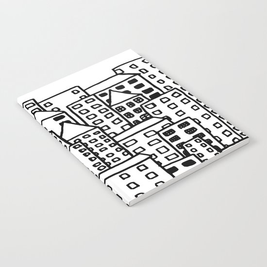 Cityscape Doodling Notebook
