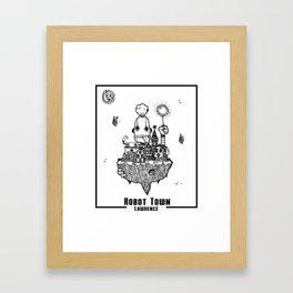 Robot Town Framed Art Print