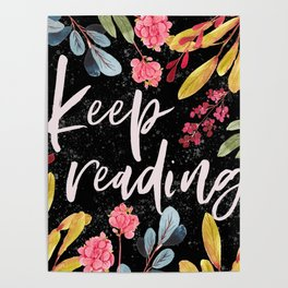 Keep Reading - Black Poster