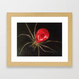 Ruby Spider Framed Art Print