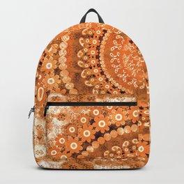 Boho Pumpkin Spice Mandala Backpack