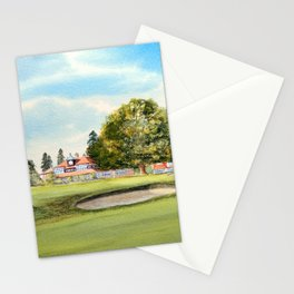 Sunningdale Golf Course 18th Green Stationery Cards