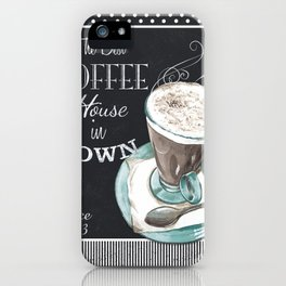 Retro Chalkboard Coffee 2 iPhone Case