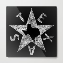 State Of Texas Metal Print