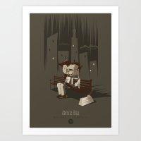 annie hall Art Prints featuring Annie Hall by Inno Theme