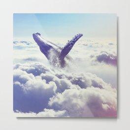 Cloudy whale Metal Print
