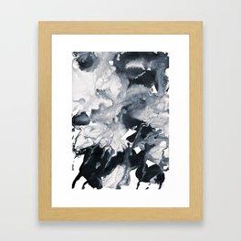 inkblot marble 8 Framed Art Print