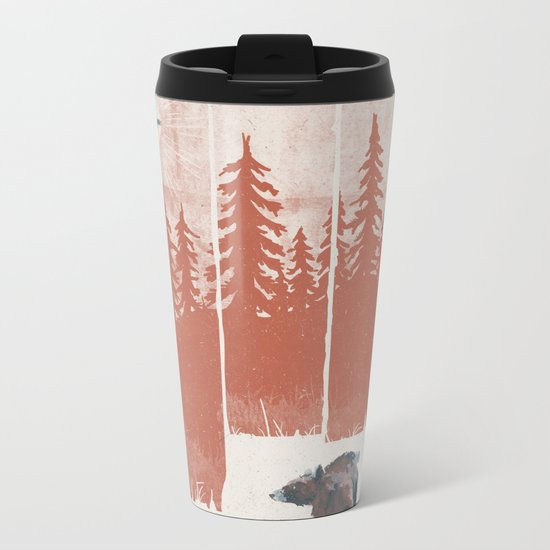 A Bear in the Wild... Metal Travel Mug