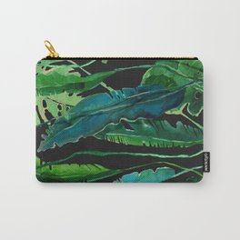 Horizontal Leaves Carry-All Pouch