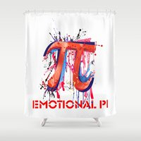pi Shower Curtains featuring Emotional Pi by Vi Sion