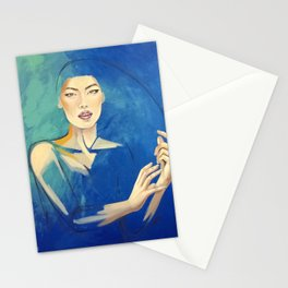Oriental silk Stationery Cards