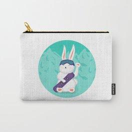 Manekineko bunny goes snowboarding Carry-All Pouch