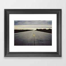 road view Framed Art Print