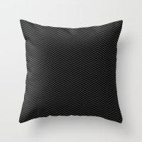 herringbone Throw Pillows featuring Herringbone by SamAnne