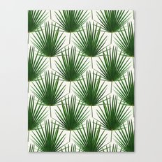 Simple Palm Leaf Geometry Canvas Print