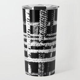 Rebar And Brick - Industrial Abstract Travel Mug