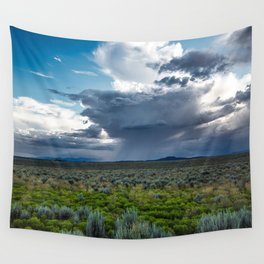 Desert Rain - Summer Thunderstorms Near Taos New Mexico Wall Tapestry