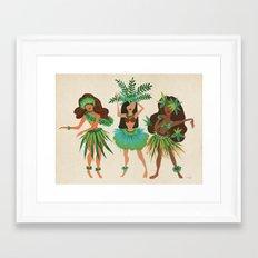 Luau Girls Framed Art Print