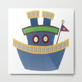 Kids Tugboat Metal Print